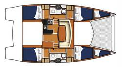 Layout (Riss) Moorings 3900 Katamaran