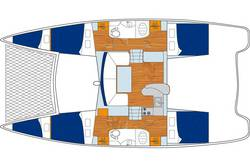 Layout (Riss) Sunsail 384 Katamaran